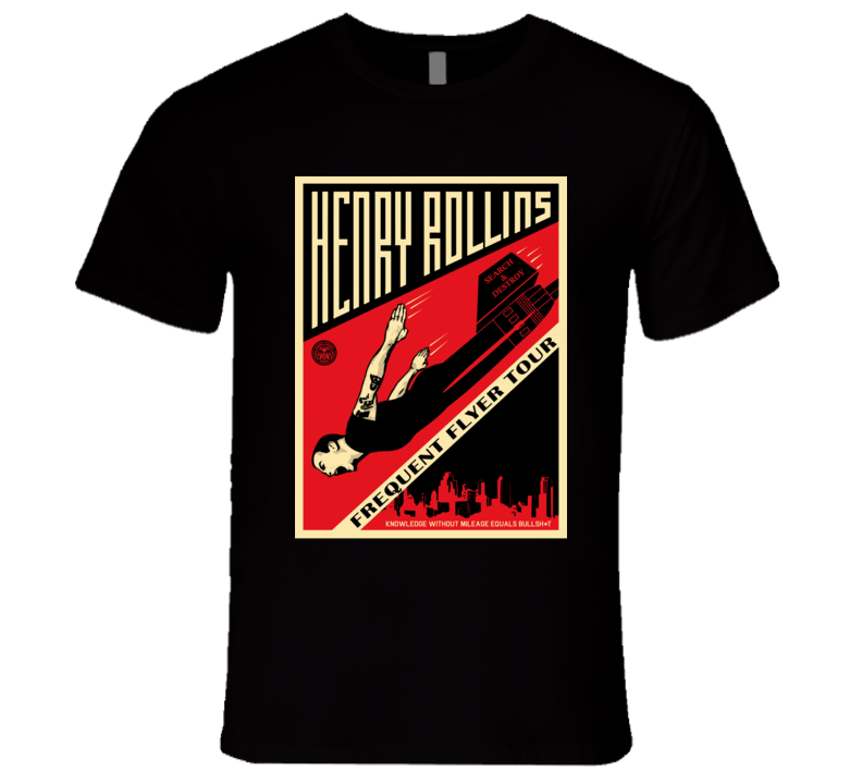 Frequent Flyer Henry Rollins Band  T Shirt