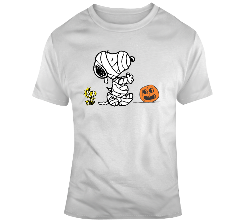 Halloween Mummy Snoopy Graphic T Shirt