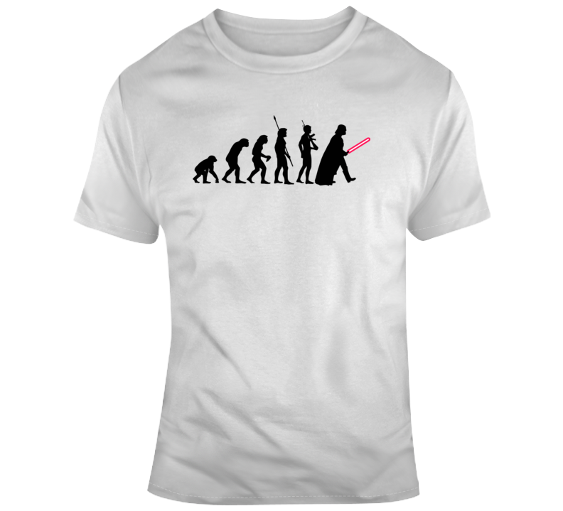 Human Evolution Star Wars T Shirt