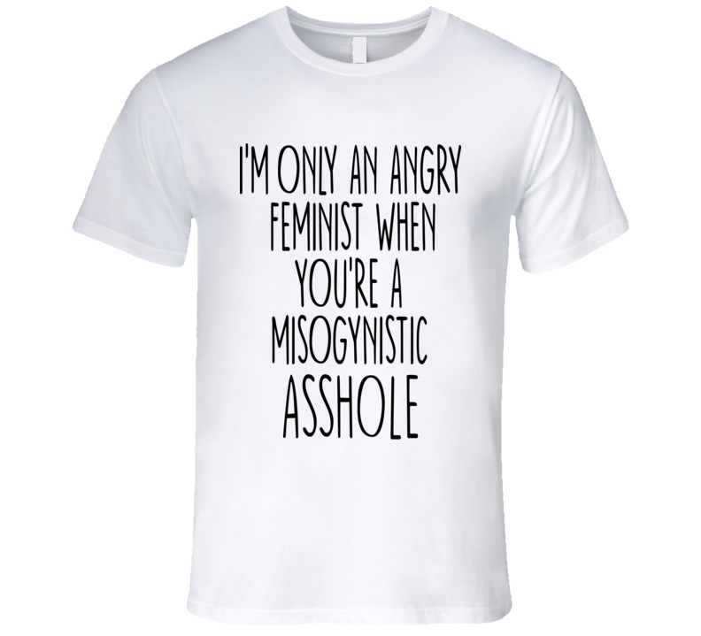 I'm Only An Angry Feminist When You're A Misogynistic Asshole T Shirt