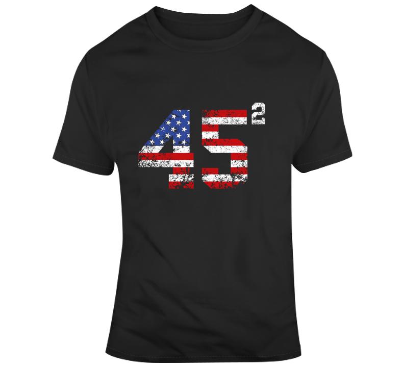 45 Squared Trump 2020 Second Term Usa Vintage T Shirt
