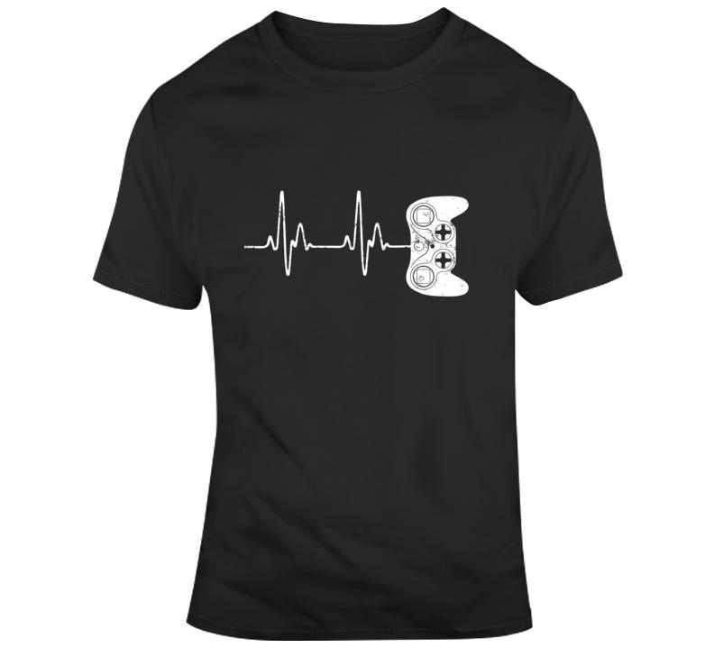 Gamer Heartbeat T-shirt Video Game Lover Gift T Shirt