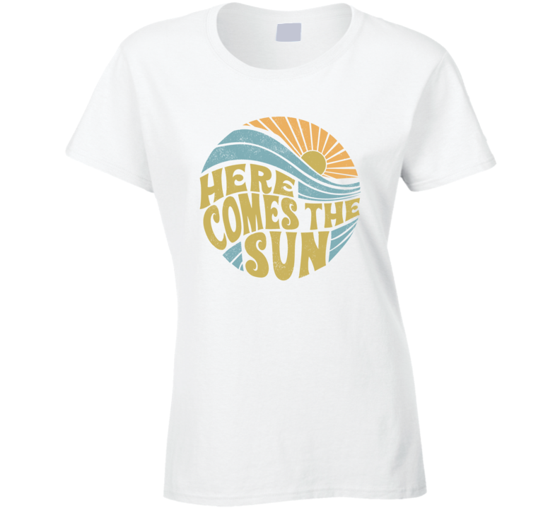 Summer Here Comes The Sun Vintage Ladies T Shirt