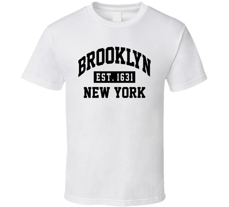 Brooklyn New York White T Shirt