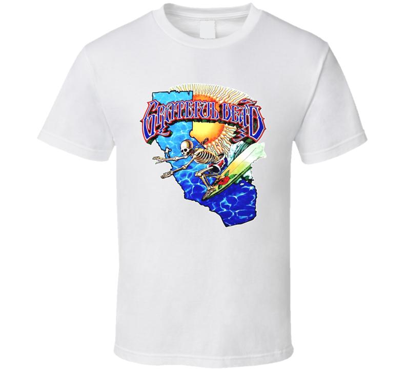 Grateful Dead Surfing Skeleton Band T Shirt
