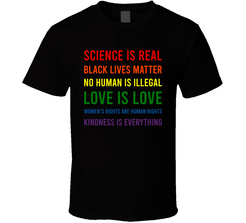 Science Is Real Black Lives Matter  T Shirt