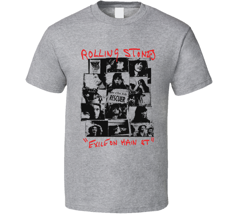Rolling Stones Exile On Main Street Band T Shirt