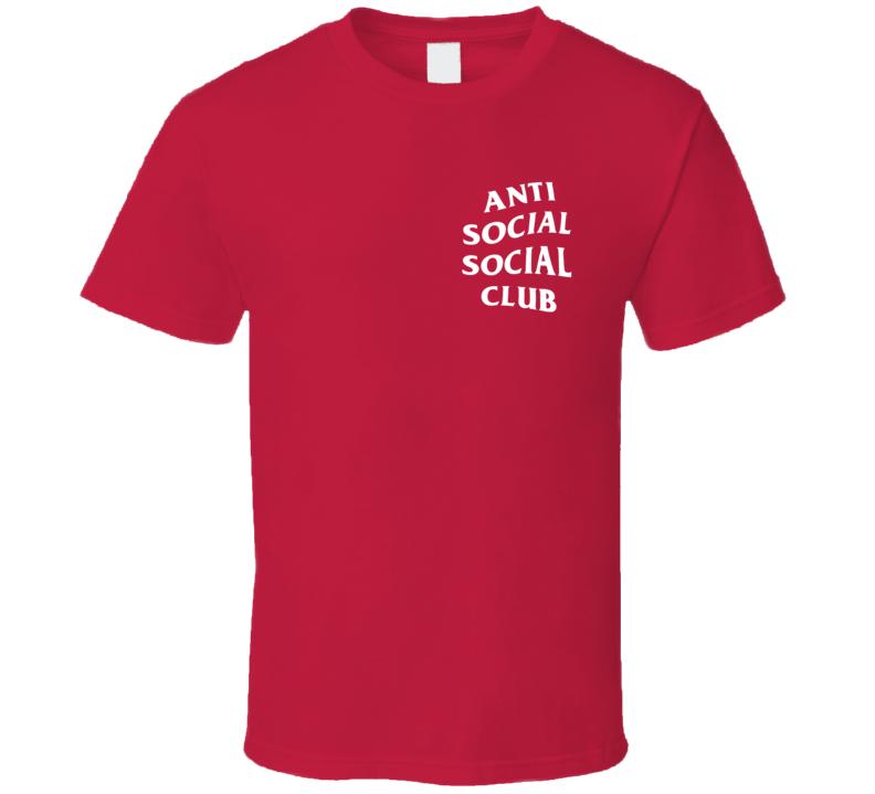 Anti Social Social Club Red T Shirt
