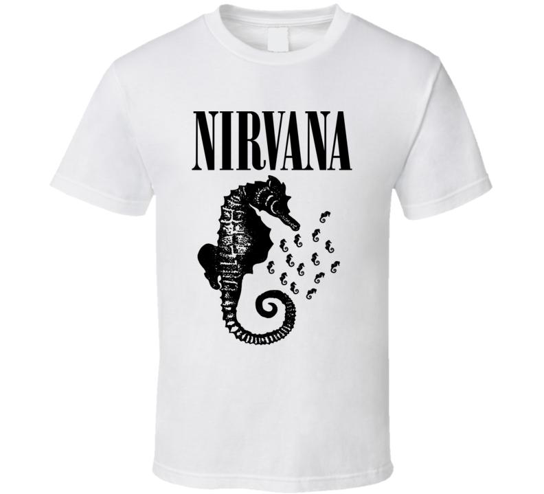 Nirvana Seahorse Band T Shirt