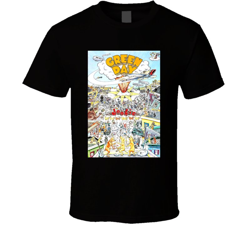 Cvr Dookie Green Day Band Black T Shirt