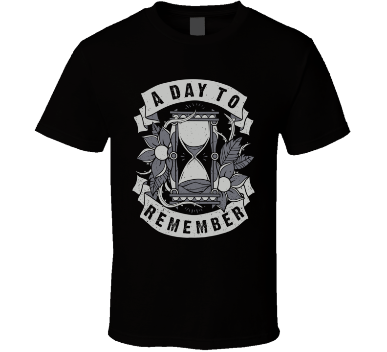 A Day To Remember Hourglass Band T Shirt