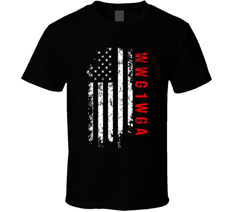 Qanon WWG1WGA US Flag T Shirt