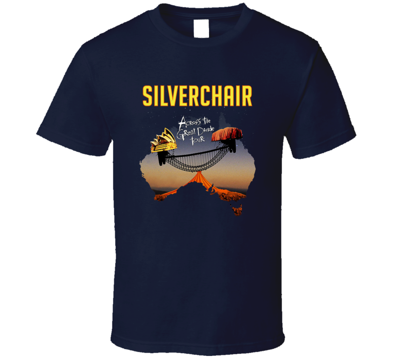 Silverchair Band Navy  T Shirt