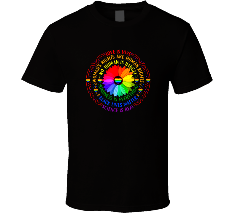 Rainbow Black Lives Matter T Shirt