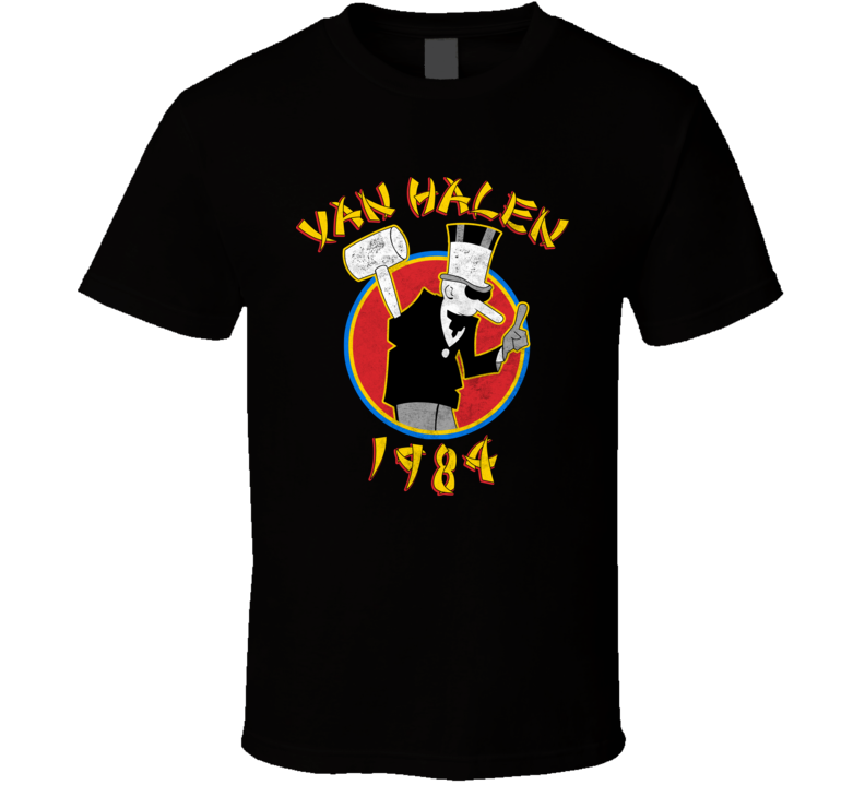 Van Halen 1984 Band Black T Shirt