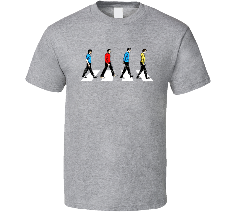 Star Trek Abbey Road T Shirt Sport Grey T Shirt