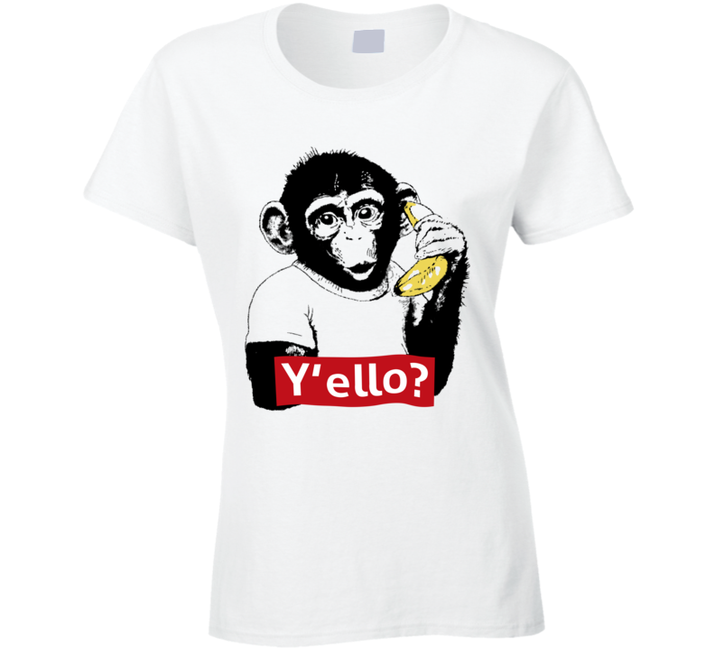 Monkey  Y'ello Ladies T Shirt
