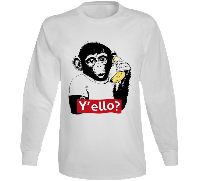 Monkey  Y'ello Long Sleeve T Shirt