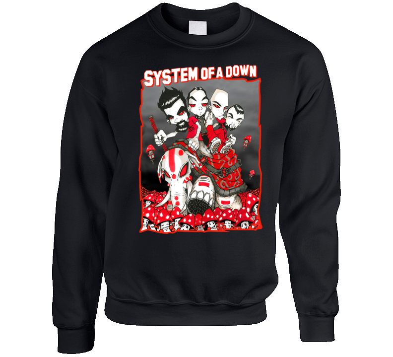 System Of A Down Band Crewneck Sweatshirt