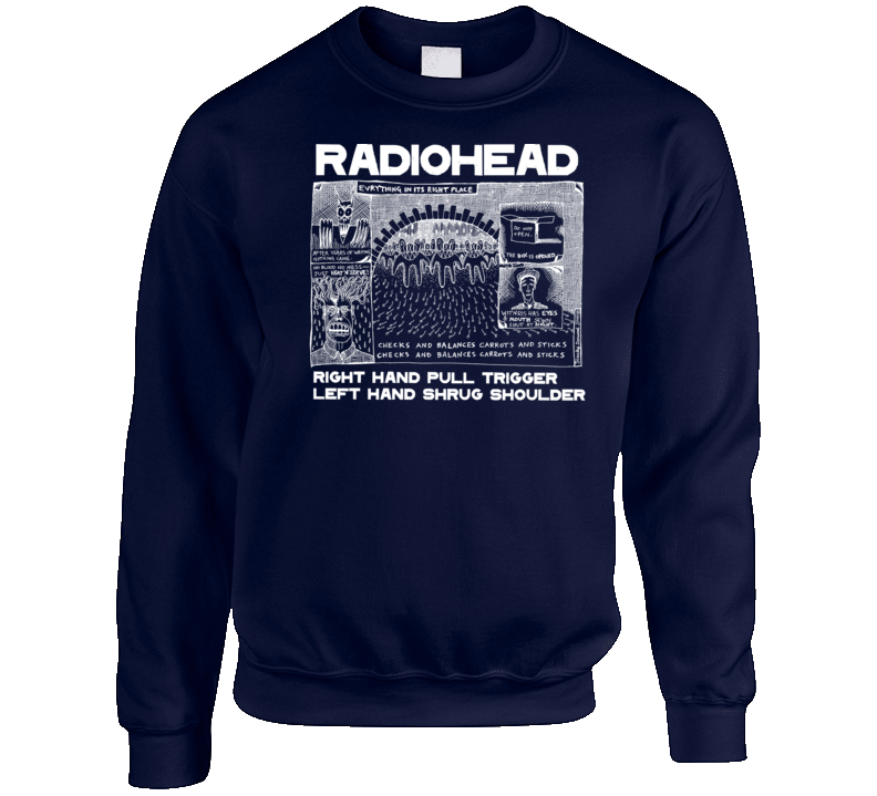 Everything In It's Right Place Radiohead Crewneck Sweatshirt
