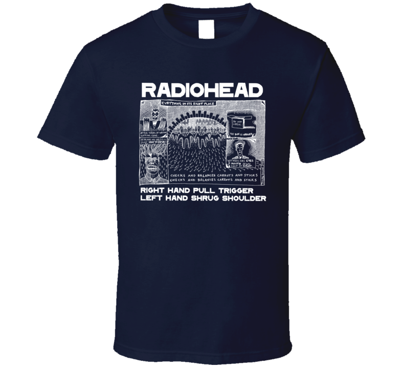 Everything In It's Right Place Radiohead Crewneck Sweatshirt T Shirt