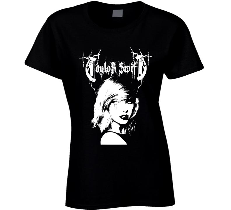 Taylor Swift Metal Mash Up Band Women Ladies T Shirt