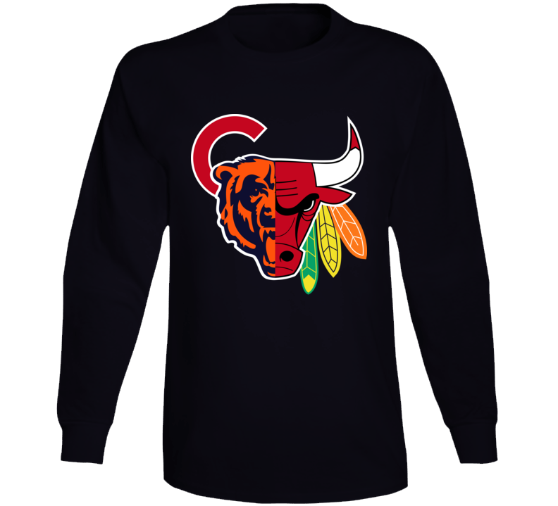 Chicago Sports Team Mashup Long Sleeve T Shirt