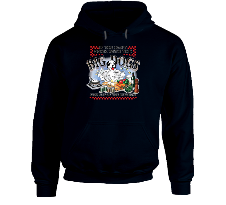 Cook With Big Dogs Navy Hoodie