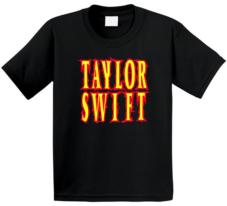 Taylor Swift Band Metal Words T Shirt