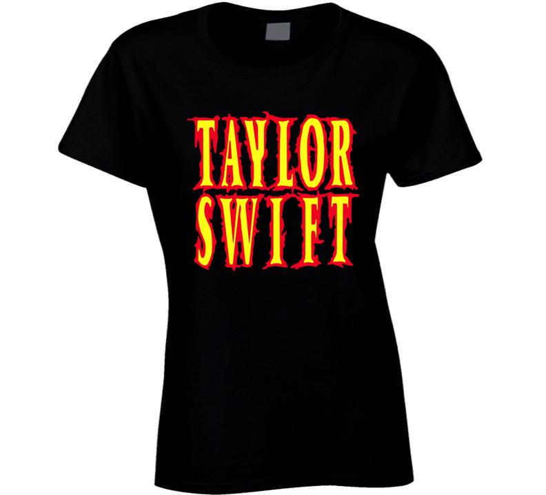 Taylor Swift Band Metal Words Ladies T Shirt