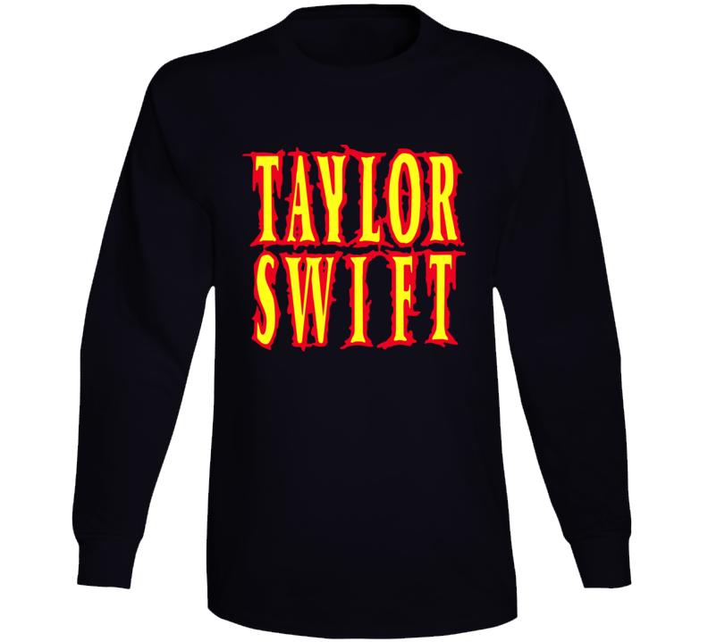 Taylor Swift Band Metal Words Long Sleeve T Shirt