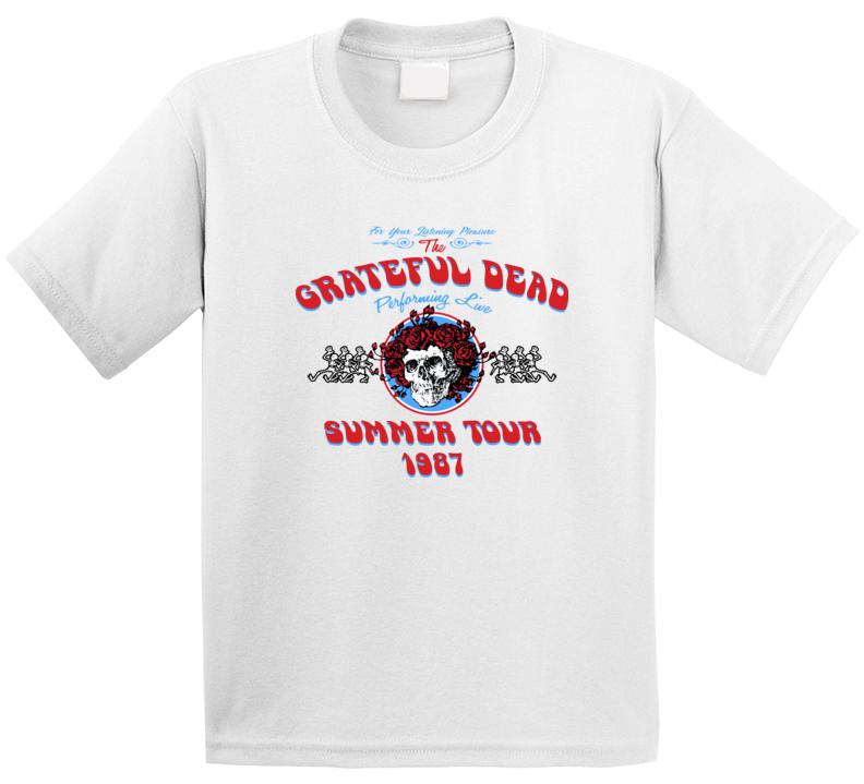 Grateful Dead Summer Band Summer Tour 1987 T Shirt