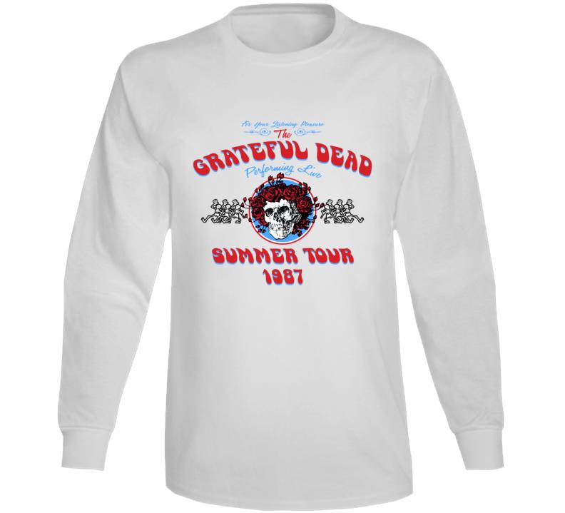 Grateful Dead Summer Band Summer Tour 1987 Long Sleeve T Shirt