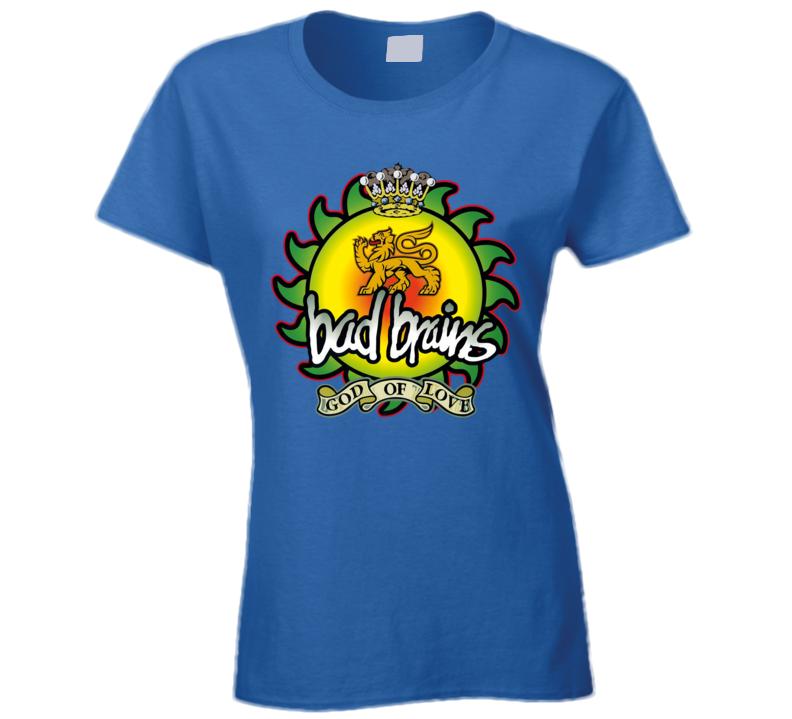 Bad Brains God Of Love Band Ladies T Shirt