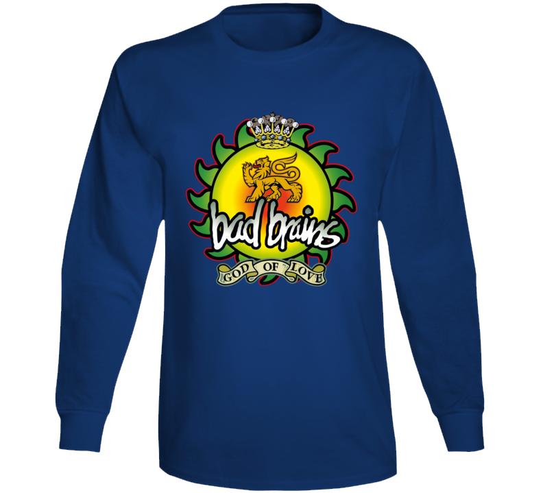 Bad Brains God Of Love Band Long Sleeve T Shirt