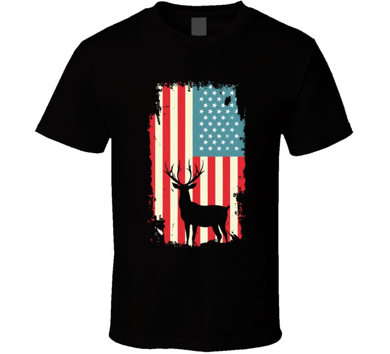 American Deer Hunter Patriotic T Shirt