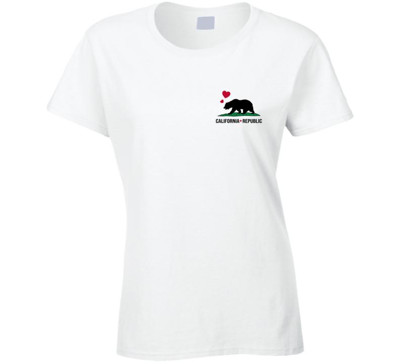 California Republic Pocket Style Ladies T Shirt