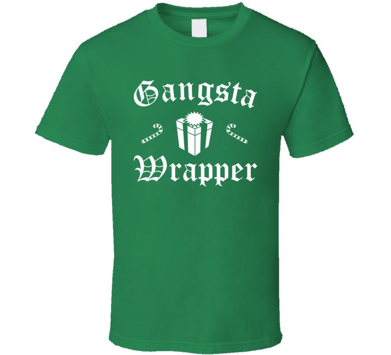 Gangsta Wrapper Christmas Funny T Shirt