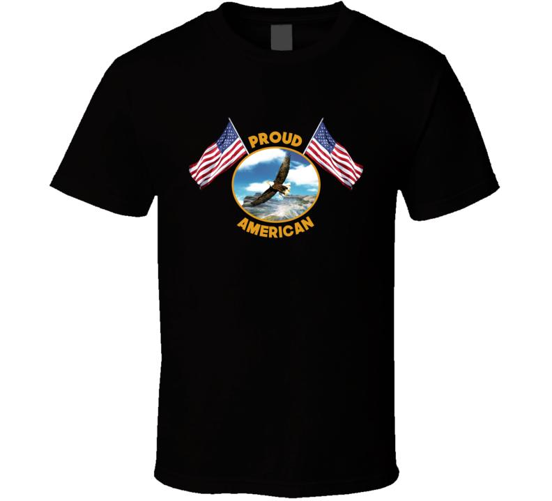 Proud American Black T Shirt