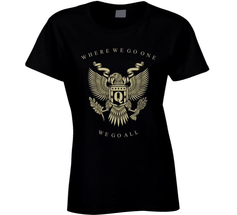 Qanon Eagle Wwg1wga Ladies T Shirt