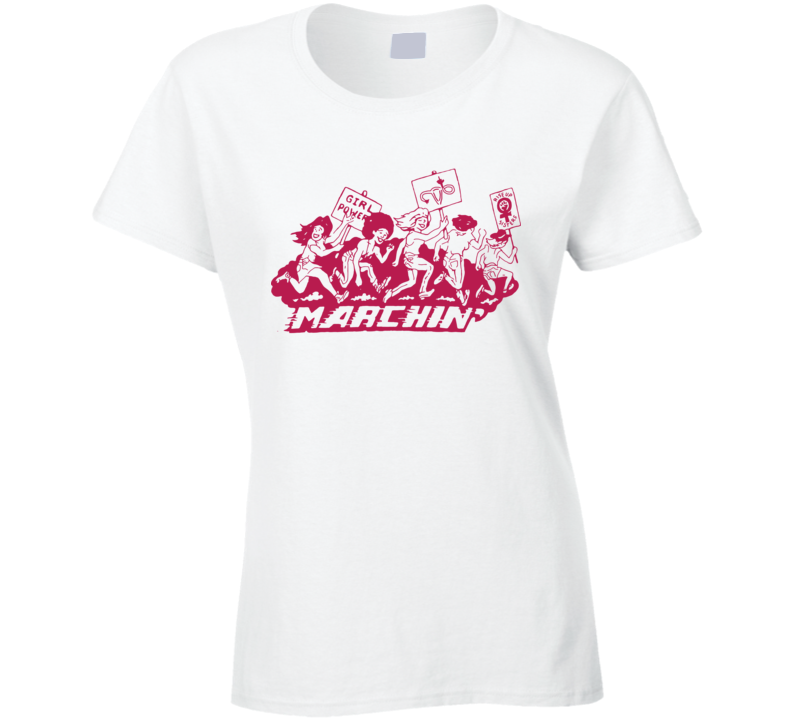 Marching Graphic Classic Ladies T Shirt