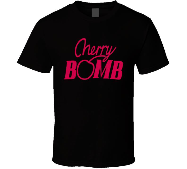 Cherry Bomb Black T Shirt