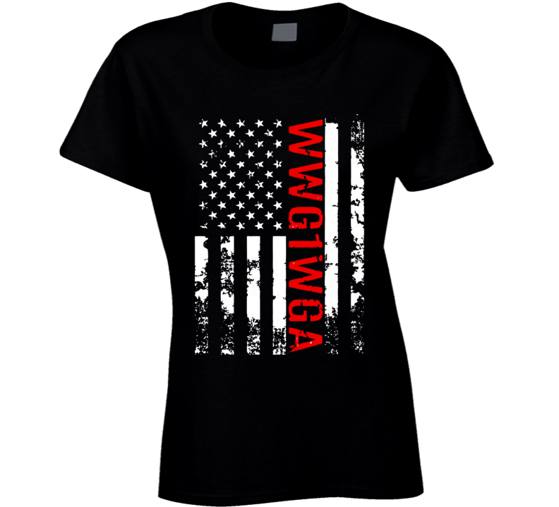 Q Anon Wwg1wga Women Ladies T Shirt