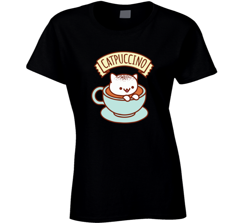 Kawaii Cat Catpuccino Ladies T Shirt
