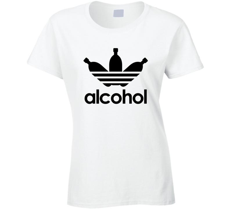 Alcohol Ladies T Shirt