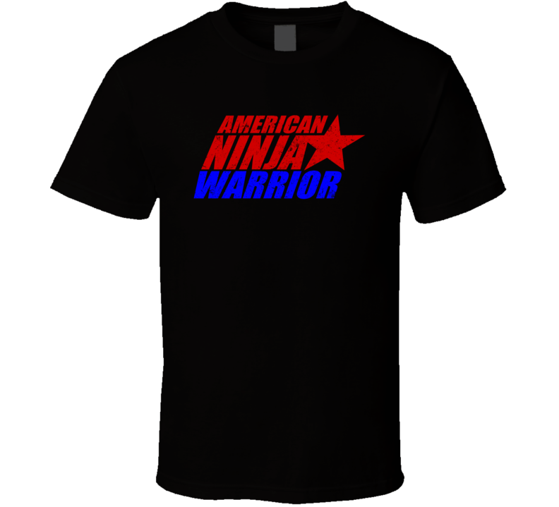 American Ninja Warrior Logo Distressed T Shirt