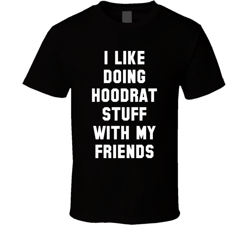 I Like Doing Hoodrat Stuff With My Friends T Shirt