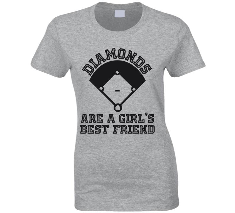 Diamonds Are A Girl's Best Friend Baseball T Shirt