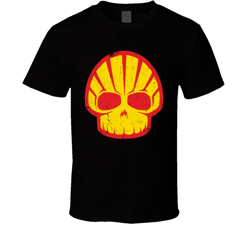 Angry Shell Logo Distressed T Shirt