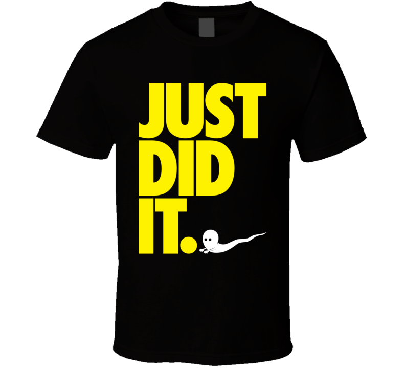 Just Did It Black T Shirt
